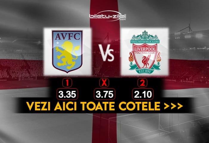 Aston Villa Liverpool Cote Pariuri 08012021