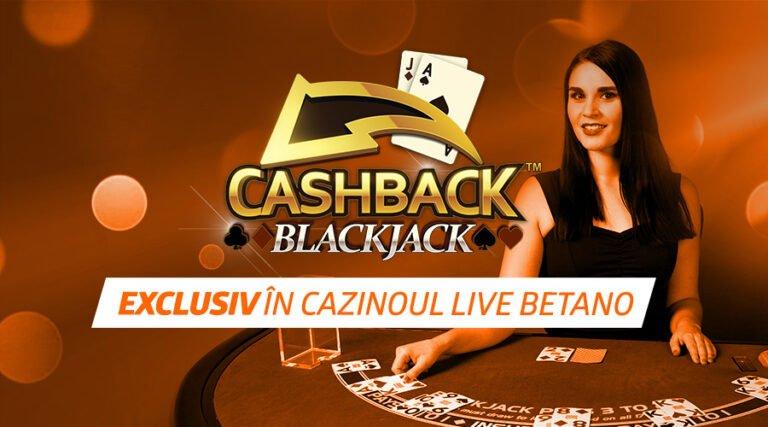 Cashback Blackjack – noul joc marca Playtech, în oferta Exclusivă Betano