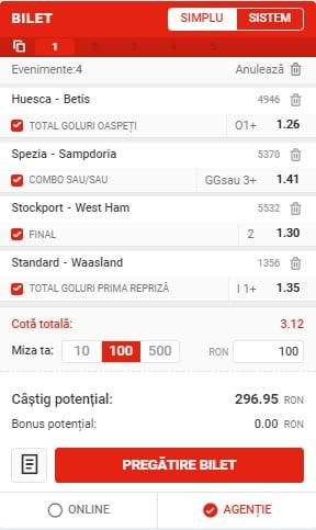 Bilet Fotbal 11012021