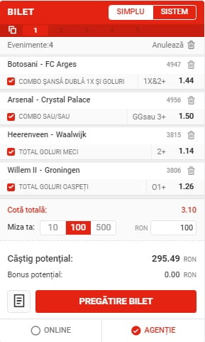 Bilet Fotbal 14012021