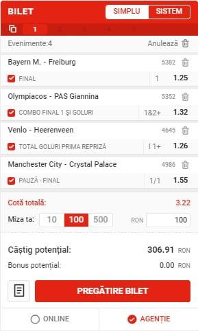 Bilet Fotbal 17012021