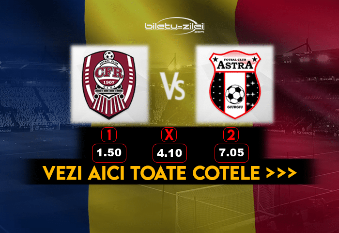 Cfr Cluj Astra ponturi fotbal