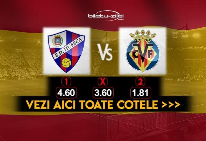 Huesca Villarreal Cote Pariuri 23012021