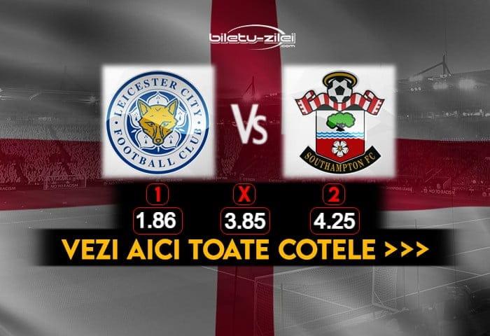 Leicester Southampton Cote Pariuri 16012021