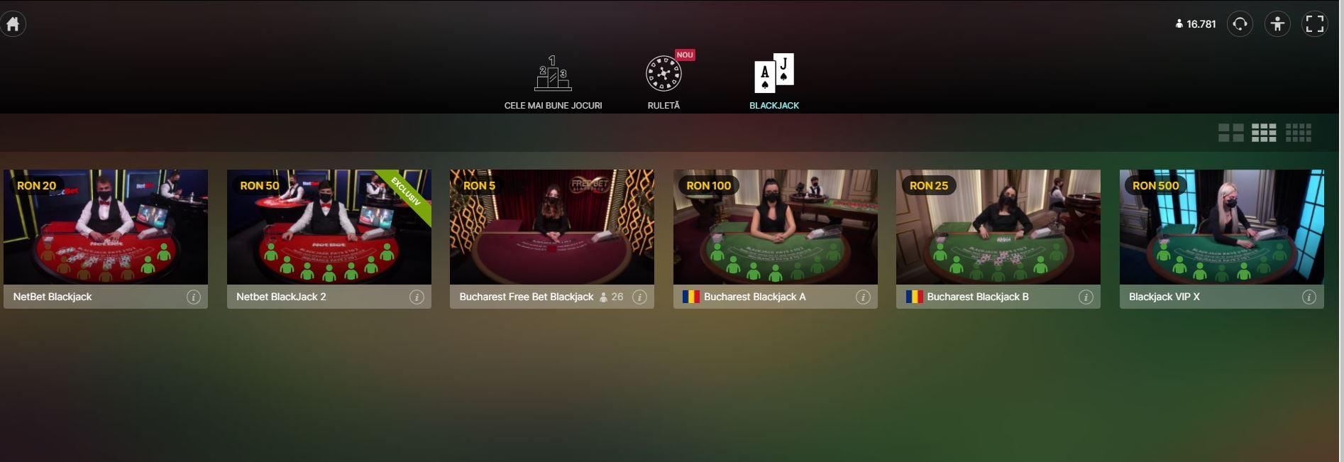 blackjack live netbet casino