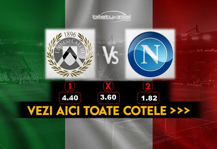Udinese Napoli ponturi fotbal