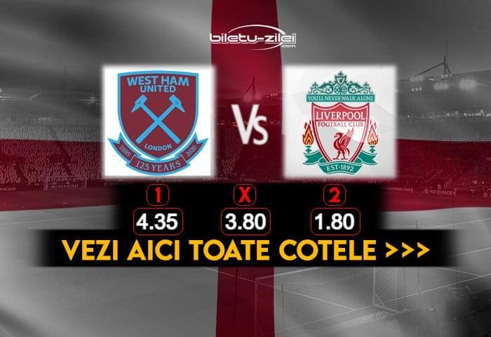 West Ham Liverpool Cote Pariuri 31012021