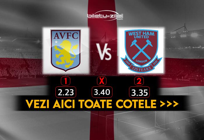 Aston Villa West Ham Cote Pariuri 03022021