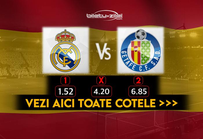 Real Madrid Getafe Cote Pariuri 09022021