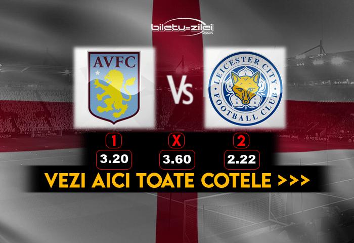 Aston Villa Leicester Cote Pariuri