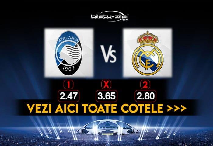 Atalanta Real Madrid Cote Pariuri 24022021