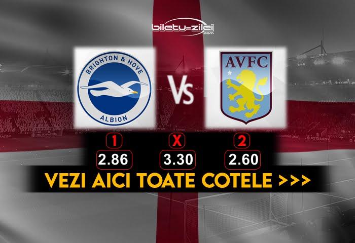Brighton Aston Villa Cote Pariuri