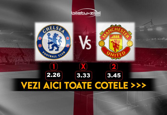 Chelsea Manchester United Cote Pariuri