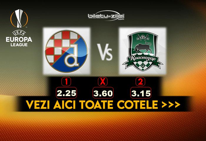 Dinamo Zagreb Krasnodar Cote Pariuri 25022021