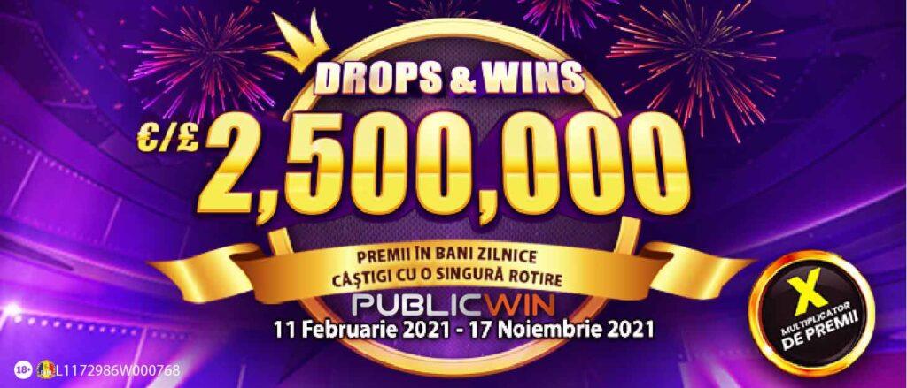 Publicwin Cazino Turneu Drops Win