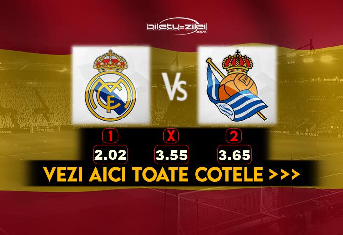 Real Madrid Sociedad Cote Pariuri