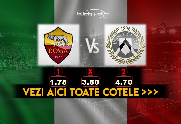 Roma Udinese Cote Pariuri
