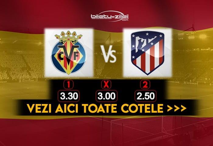 Villarreal Atletico Madrid Cote Pariuri 28022021