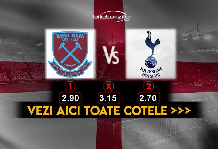 West Ham Tottenham Cote Pariuri
