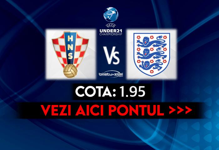 Croatia U21 – Anglia U21 ponturi pariuri 31.03.2021