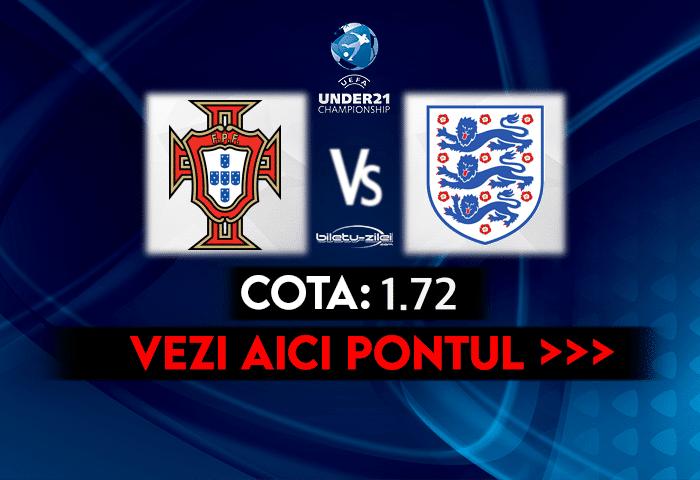 Portugalia U21 – Anglia U21 ponturi pariuri 28.03.2021