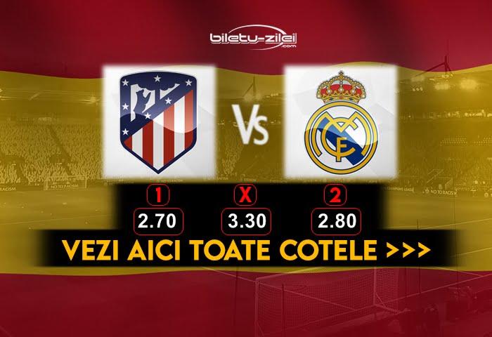 Atletico Madrid Real Madrid Cote Pariuri