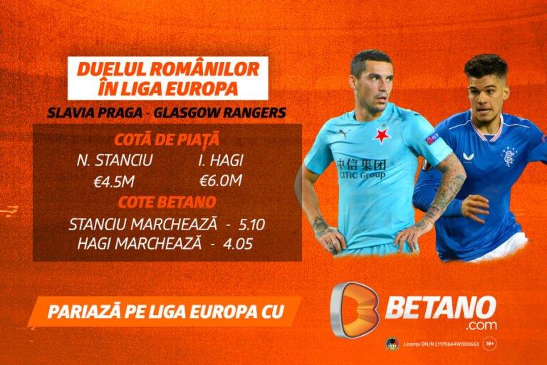 Stanciu vs Hagi în Europa League cu 1.500+ pariuri pe Betano