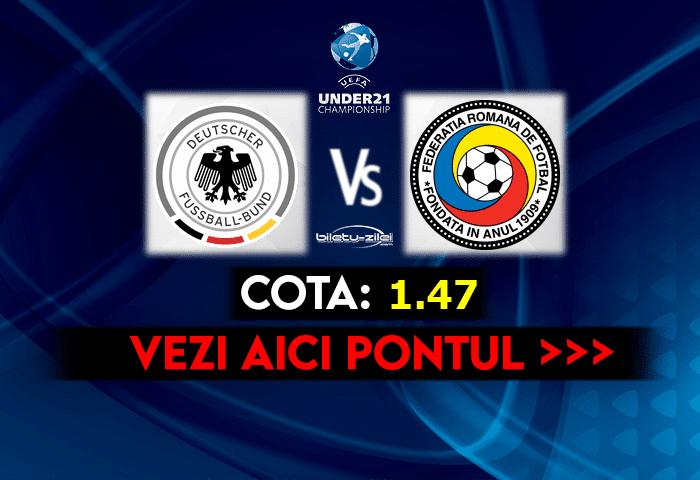 Germania U21 – Romania U21 ponturi pariuri 30.03.2021