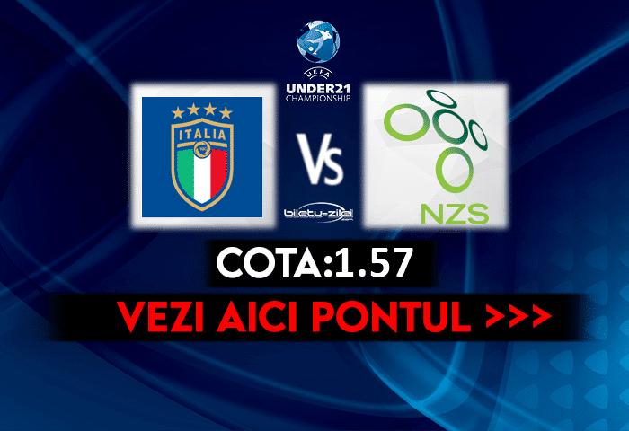 Italia U21 – Slovenia U21 ponturi pariuri 30.03.2021