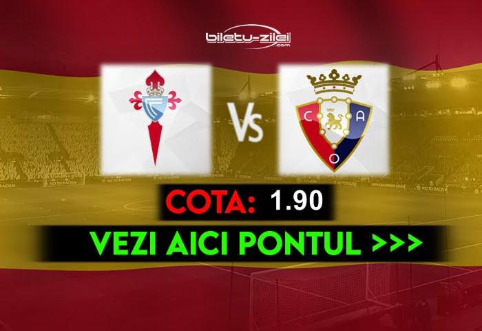 Celta Vigo – Osasuna ponturi pariuri 25.04.2021