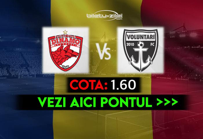Dinamo – Voluntari ponturi pariuri 29.04.2021
