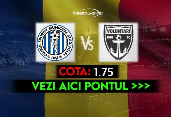 Poli Iasi – FC Voluntari ponturi pariuri 22.04.2021