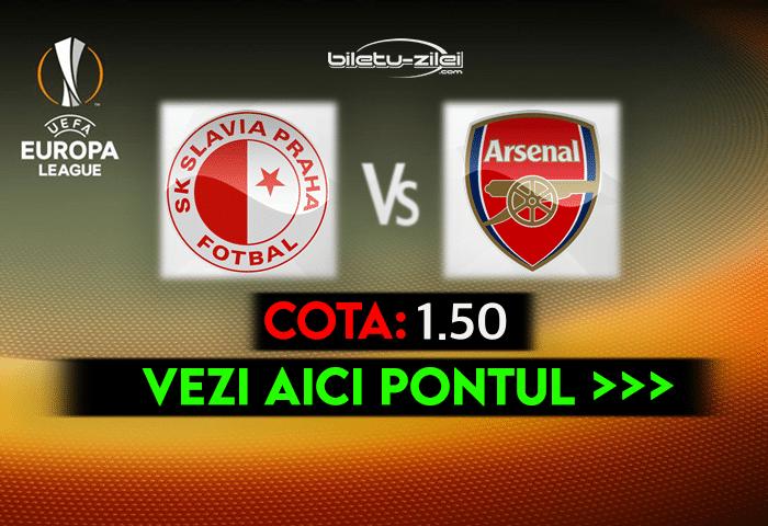 Slavia Praga – Arsenal ponturi pariuri 15.04.2021