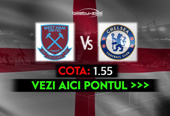West Ham – Chelsea ponturi pariuri 24.04.2021