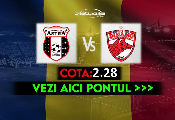 Astra – Dinamo ponturi pariuri 16.04.2021