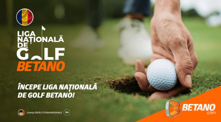 Betano este partener principal al Ligii Naționale de Golf!