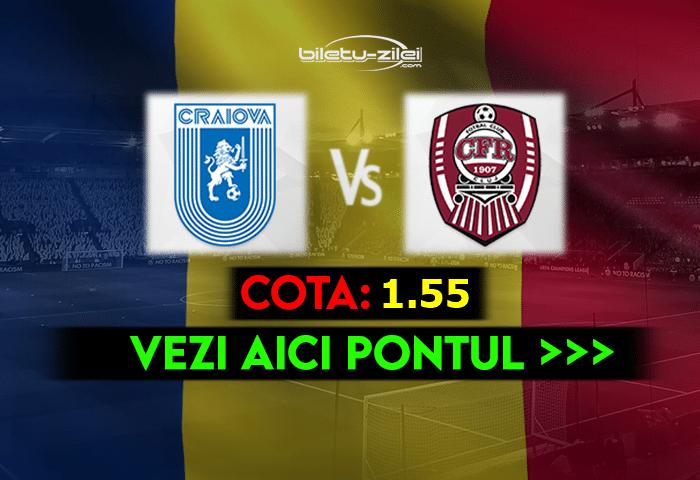 U Craiova – CFR Cluj ponturi pariuri 11.04.2021