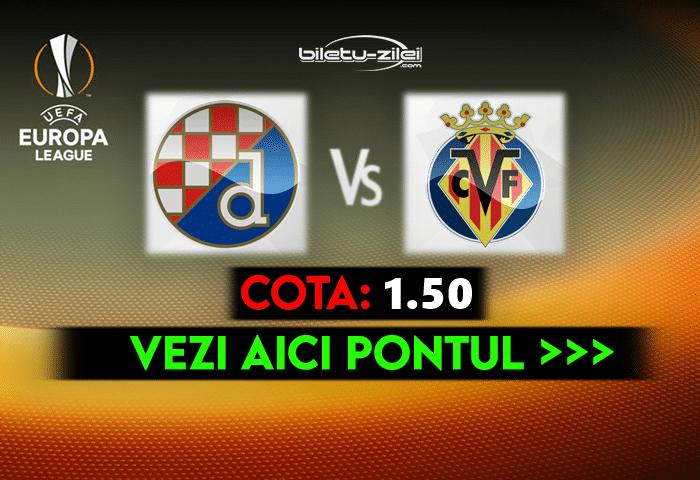Dinamo Zagreb – Villarreal ponturi pariuri 08.04.2021