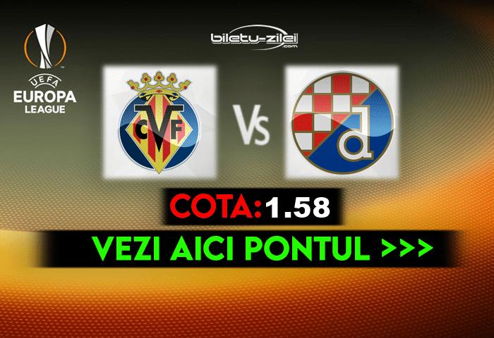 Villarreal – Dinamo Zagreb ponturi pariuri 15.04.2021