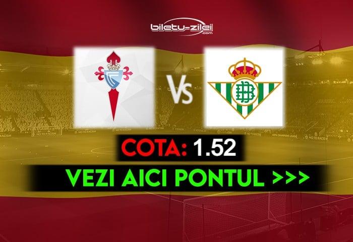 Celta Vigo – Betis ponturi pariuri 22.05.2021