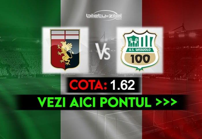 Genoa – Sassuolo ponturi pariuri 09.05.2021