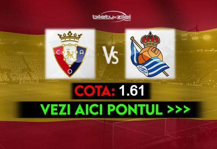 Osasuna – Sociedad ponturi pariuri 22.05.2021