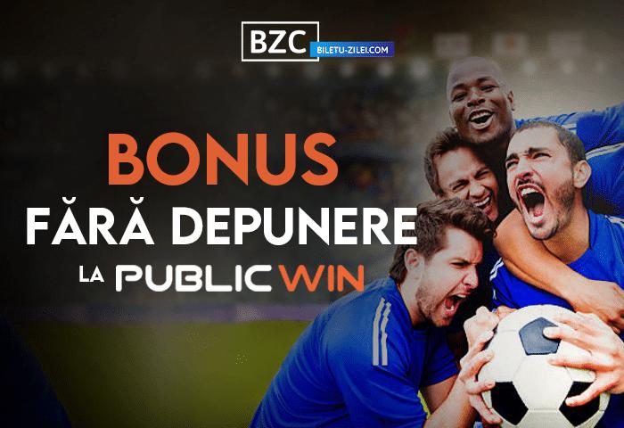 Publicwin bonus fără depunere