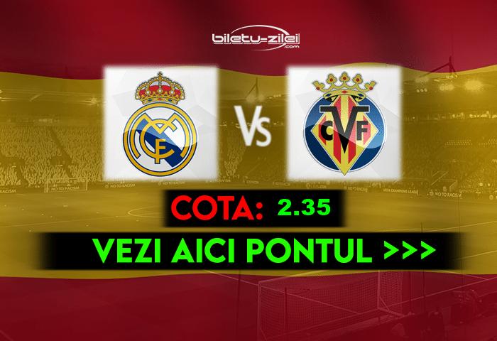 Real Madrid – Villarreal ponturi pariuri 22.05.2021