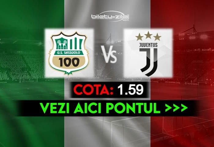 Sassuolo – Juventus ponturi pariuri 12.05.2021