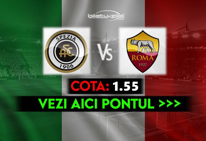 Spezia – Roma ponturi pariuri 23.05.2021