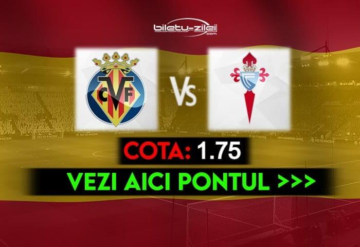 Villarreal – Celta Vigo ponturi pariuri 09.05.2021