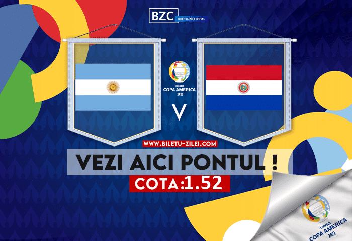 Argentina – Paraguay ponturi pariuri 22.06.2021