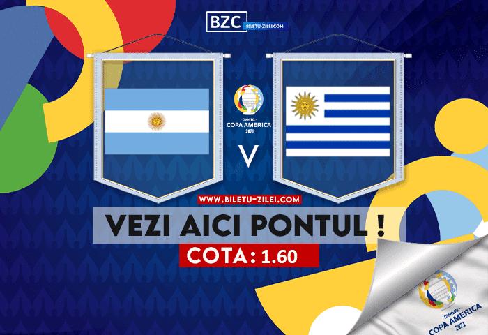 Argentina – Uruguay ponturi pariuri 19.06.2021