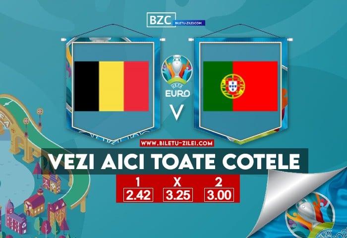 Belgia – Portugalia ponturi pariuri 27.06.2021